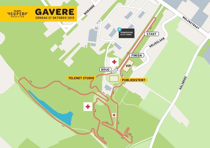 Parcours Telenet Superprestige Gavere 2019