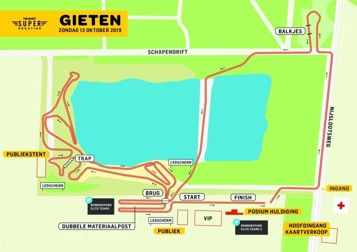 Parcours Telenet Superprestige Gieten 2019
