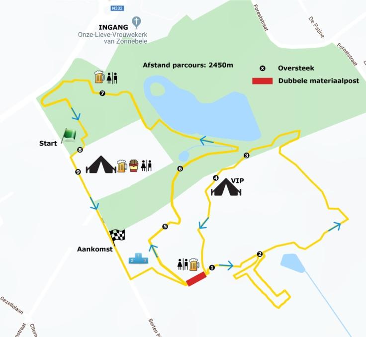 Parcours Zonnebeke 2020